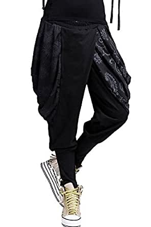 Uget Baggy Harem Hippie Pants Trouser Black - One Size