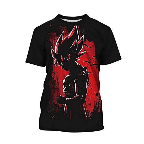 Dragon Ball Z T-Shirt Teen Children Kids 3D Print Cartoon DBZ Tops Tee ()