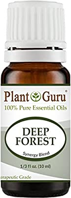Deep Forest Synergy Essential Oil Blend 10 ml 100% Pure, Undiluted, Therapeutic Grade. Aromatherapy, Respiratory System Support, Air Purifier, Natural Christmas Tree Scent
