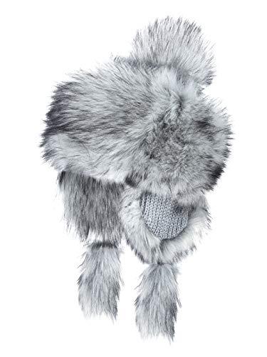 Futrzane Faux Fur Trapper Hat for Women - Fun, Warm & Different Russian Fur Hat (Siberian Silver)