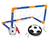 Air Power Soccer Disk-Hover Ball Set Ultra Glow Light Up Air Soccer Football Disc-Colorful Lights-Sports Game Toy Gift Present for Kids Children and Youth by FinalBase Brand