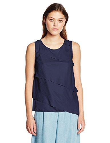 Boss Orange Kasimmy, Camiseta sin Mangas para Mujer Azul (Dark Blue 407)