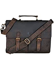 cuero 14 Leather Vintage Laptop Messenger Briefcase Bag For Men And Women