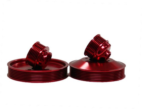OBX Red Overdrive Power Pulley Kit 99-05 BMW 3-Series E46 Exc. M3