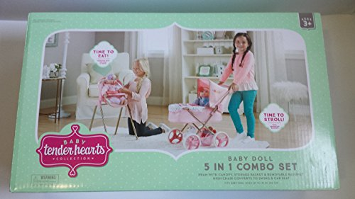 Baby Doll 5 in 1 baby carrier (Doll Baby Stroller Combo)