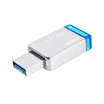 Hopsd 64GB USB3.1 U Disk DT50 Carcasa De Metal Azul Sin ...