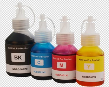 (DCPT300 Refill ink for Brother DCPT300/T500W/T700/ BT6000 /BT5000 4PC BK 100ML Color 42ml3 WINK)