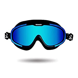 Navy Seal Swim Goggles, Premium Anti Fogging Full Swim Goggles Mask with Adjustable Silicone Headband, Far Sighted Performance Face Mask Swimming Goggles Polarized for Adult Youth Women Men