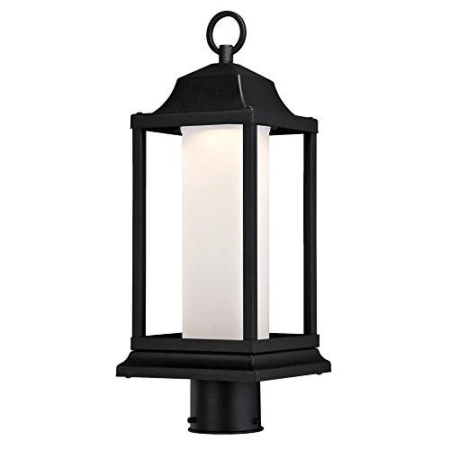 (Westinghouse Lighting 6347300 Honey Brook One-Light LED Outdoor Post Top Fixture with Frosted Glass, Textured Black Finish )
