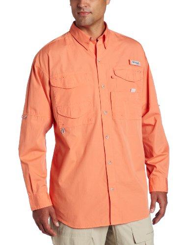 Columbia Men's Bonehead Long Sleeve Shirt, Bright Peach, Large