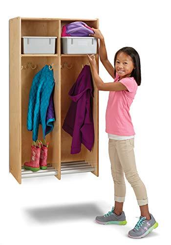 Jonti-Craft 9134JC 2 Section Hanging Locker - with Platinum Tubs ()