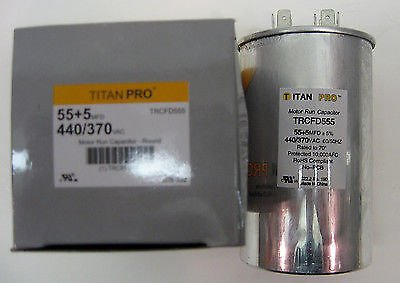 Room Air Conditioner Replacement Parts TitanPro TRCFD555 HVAC Round Dual Motor Run Capacitor. 55/5 MFD/UF440/370 - St Outlets Louis Near Mo