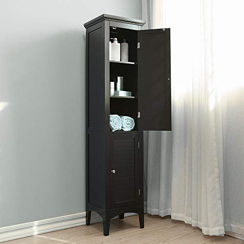 Elegant Home Fashions Adriana Linen Tower with 2-Shutter Door ()