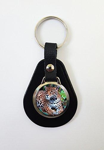 Jaguar gato en una piel llavero llavero ideal regalo de ...