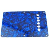 IKN 3Ply Pearl Blue Strat Back Plate for ST Style Guitar Tremolo Back Plate