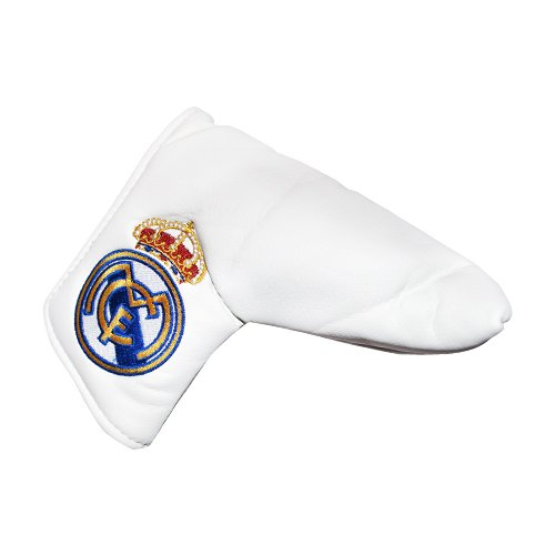 Real Madrid FC Puttercover - Official Real Madrid Product - Great For Any Real Madrid Golf Fan - Features Real Madrid FC Team Crest in Full Color - Velcro Close - Easy On/Off - Includes Real Madrid FC Ball Marker Too