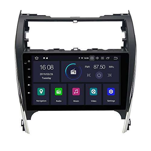 Dasaita 10.2 Android 9.0 Single Din Car Stereo Bluetooth for Toyota Camry 2012 2013 2014 Touch Screen Radio with GPS Navigation 4G Ram 64G ROM Built in DSP Dash WiFi USB Steering Wheel Control