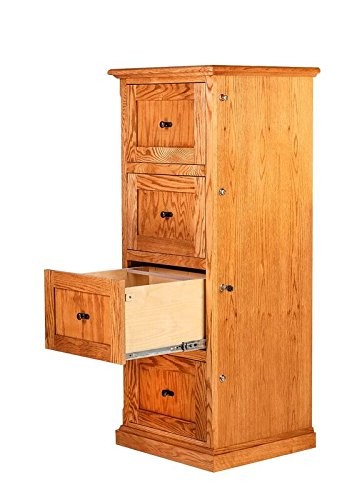 Forest Designs FD-1034- MG-ChO Mission Four Drawer File, 22