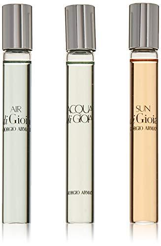 Giorgio Armani 3 Pc Eau de Parfum Rollerball Set: Acqua di Gioia + Air di Gioia + Sun di Gioia