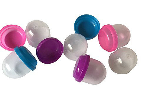 """1"""" Acorn Capsules: Pink, Blue, Purple Vending Machine Balls, Empty Cases for Gumball Containers, Toy Stands, and Party Favors or Bath Bombs, Rainbow Colored Lids and Clear Bottoms Girls"""