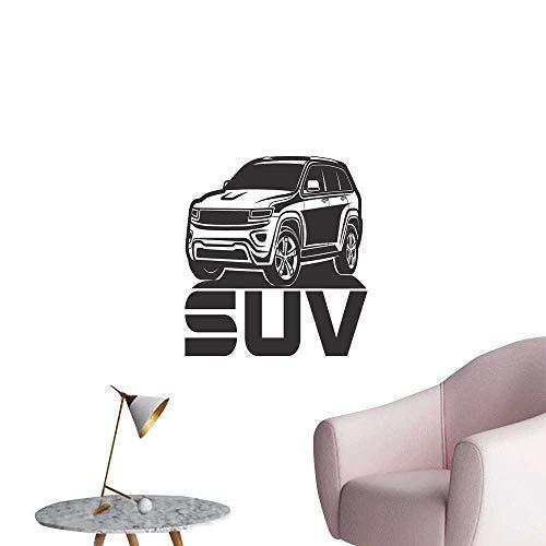 - SeptSonne Vinyl Artwork SUV Logo Design car Crossover Easy to Peel Easy to Stick,16