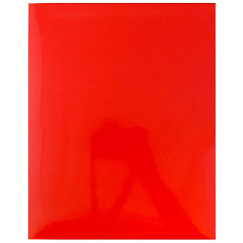 JAM Paper Laminated Glossy 2 Pocket School Folders - Red - 100/pack by JAM Paper (Image #4)