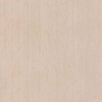 Monocolore Beige Effetto Tessuto Striato A Rilievo Parato Vinilico