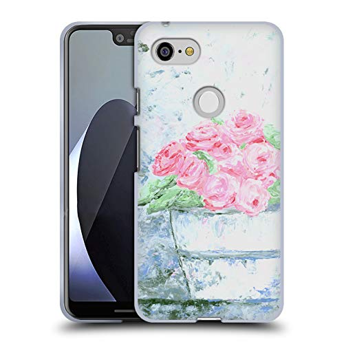 Official Amanda Hilburn Pail Pink Spring Floral Soft Gel Case for Google Pixel 3 ()