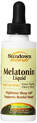 Sundown Naturals Sublingual Melatonin Liquid Cherry Flavor, 2 Ounces by Sundown Naturals
