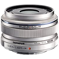 Olympus M.Zuiko 17mm f1.8 (Silver) for Olympus and Panasonic Micro 4/3 Cameras - International Version (No Warranty)