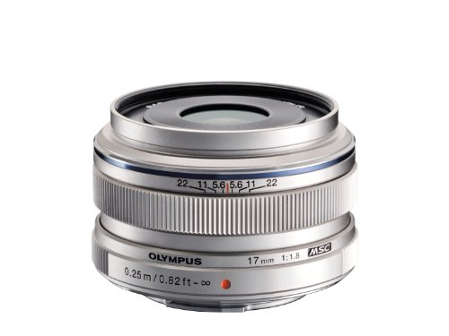 Olympus M.Zuiko 17mm f1.8 (Silver) for Olympus and Panasonic Micro 4/3 Cameras - International Version (No Warranty) by Olympus