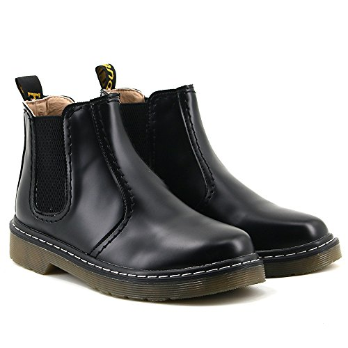 Aleader Womens Slip On Casual Chelsea Boots Black B28PS4t