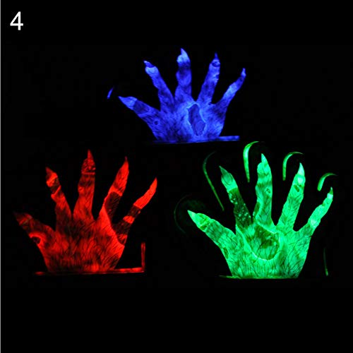 Musitelying 1Pc Colorful LED Flashing Skeleton Werewolf Gloves Concert Favor Party Props Joke Prank Toy Random Color 4]()