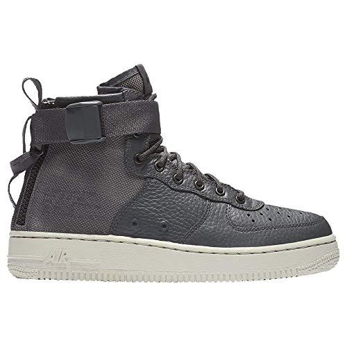 Nike SF Air Force 1 Mid, Dark Grey/Dark Grey/Light Bone (5.5 M US Big -