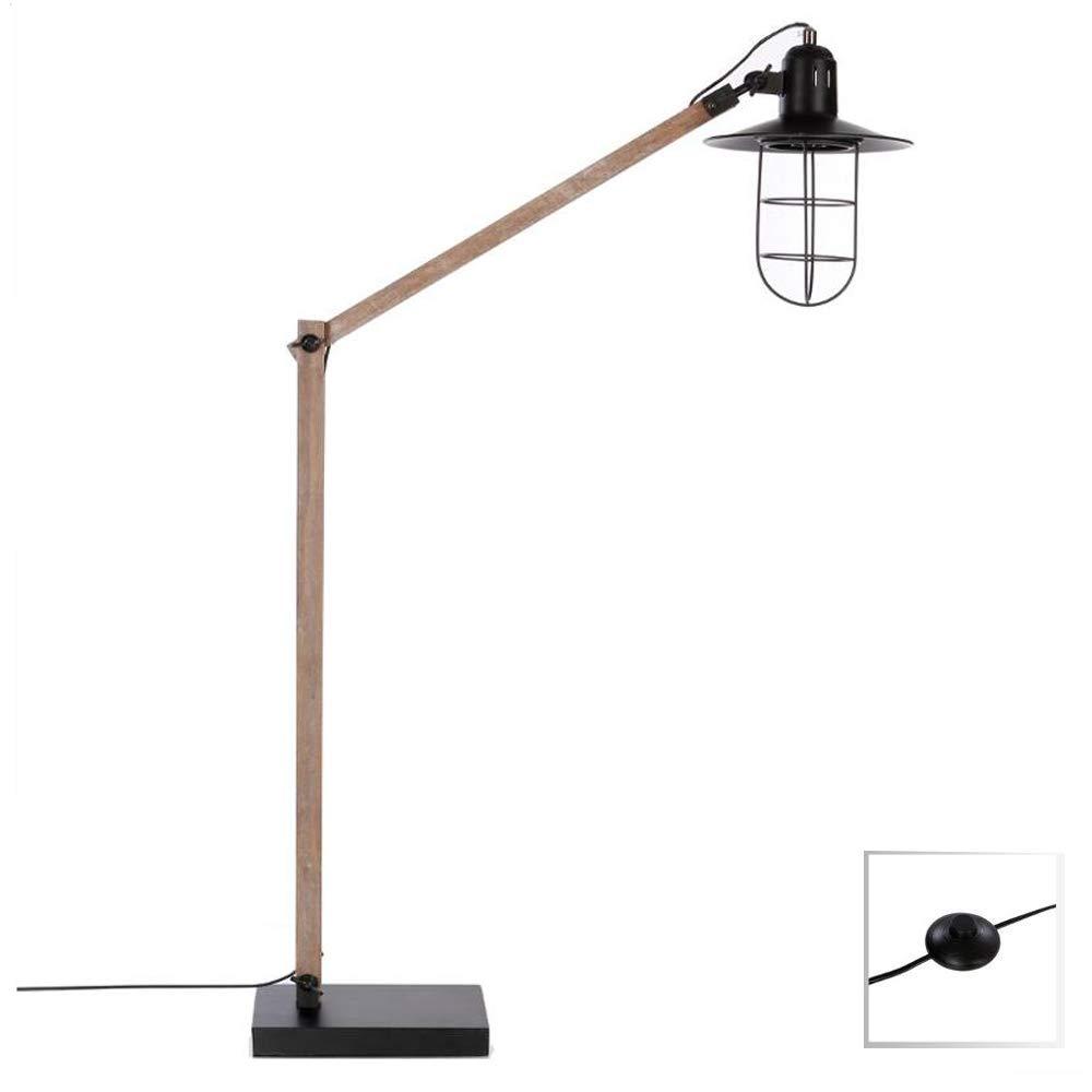 Stehlampe einstell- mit Fuß - Industrie-, Loft-, Atelier-Stil - einstell- Stehlampe und einklappbar 9f9b1c