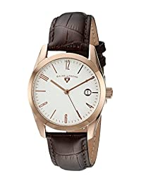 Swiss Legend Men's 22038-RG-02-BRWS Peninsula Analog Display Swiss Quartz Brown Watch