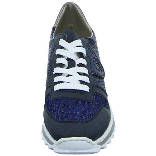 14 Sneakers altsilber Bleu Rieker royal Femme M6906 royal pazifik Basses zwpORTS5q