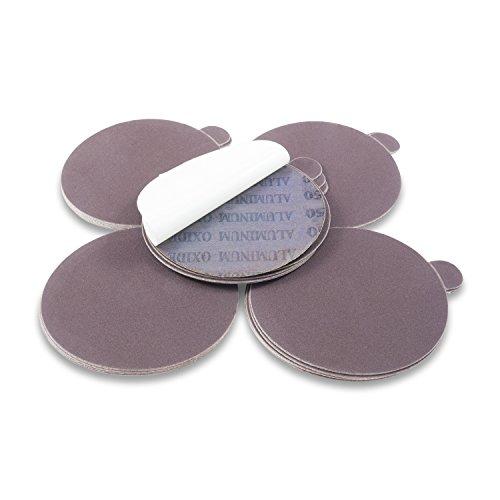Red Label Abrasives 6 Inch 100 Grit Adhesive Back Aluminum Oxide metal Sanding Disc, 10 Pack