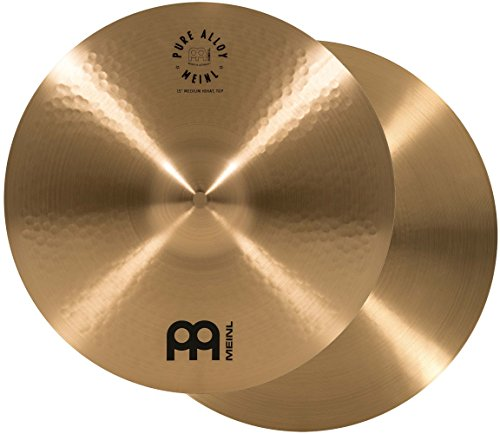 "Meinl 15"" Medium HiHat (Hi Hat) Cymbal Pair - Pure Alloy Traditional - Made in Germany, 2-YEAR WARRANTY (PA15MH)"