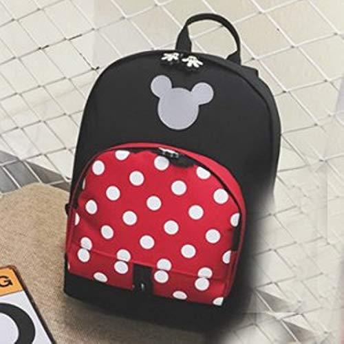 (Jewh Disney Mickey Mouse Backpack Children Girls School Bag Cute Kids Boy Backpacks New Polyester Cartoon Kindergarten Bags (A))