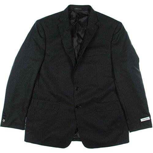 Calvin Klein Mens Sportcoat, 40R, Black by Calvin Klein
