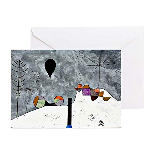 CafePress Winter Painting, Paul Klee Artwork Greeting Card, Note Card, Birthday Card, Blank Inside - Abstract Painting Klee
