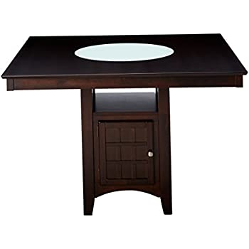 coaster hyde counter height square dining table with storage base in cappuccino. Black Bedroom Furniture Sets. Home Design Ideas