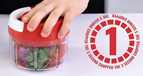 KLEVA CHOP PRO - The Compact 3 Second Chopper - Make Salsa, Guacamole and Dip in Seconds. Its Easy to Clean, Use and Store even when your Camping - We Guarantee No Tears when Chopping Onions by KLEVA RANGE (Image #4)