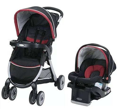 Graco FastAction Fold Click Connect Travel System Stroller (Weave)