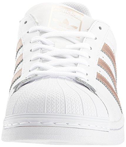 adidas BA8169 Originals Women's Superstar W Fashion Sneaker, White/Supplier Colour/White, M US