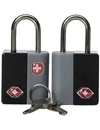 Swiss Gear Travel Sentry Key Locks, Black, One Size