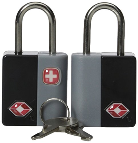 (SwissGear TSA-Approved Travel Sentry Luggage Locks - Set of 2 Mini Locks with 2 Keys, Black, One Size)