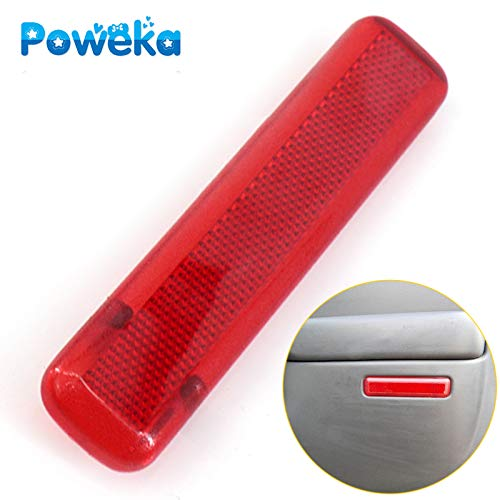 - Poweka Right Door Trim Panel Reflector for 03-07 Chevy Avalanche Suburban GMC Yukon Sierra Trucks & SUVs, Red Color -Replace 15183156 74368
