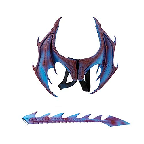 Halloween Dragon Wings (MANO Halloween Dragon Costume Toy Cosplay Carnival Wings Tail Accessory for)